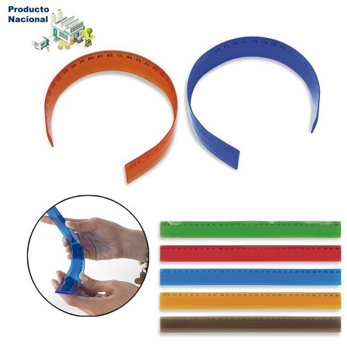 Regla plástica flexible PVC de 30 cm