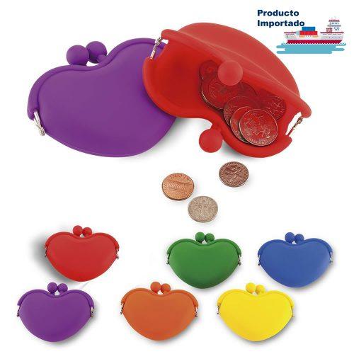 Mini Monedero en Silicona Corazón