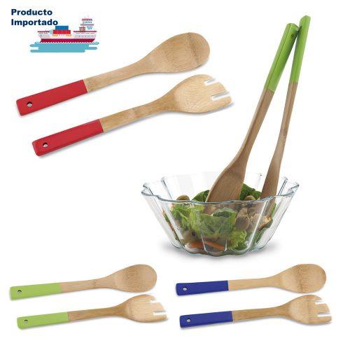 Set de Utensilios Para Cocina Bambú