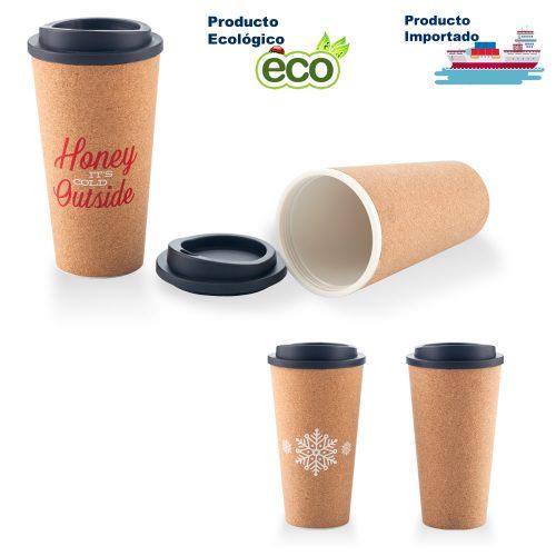 Mug Plástico Con Corcho 16 oz