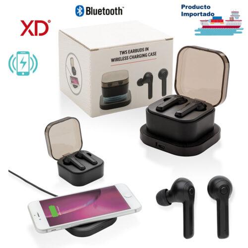 Audífonos Bluetooth con Carga Inalámbrica