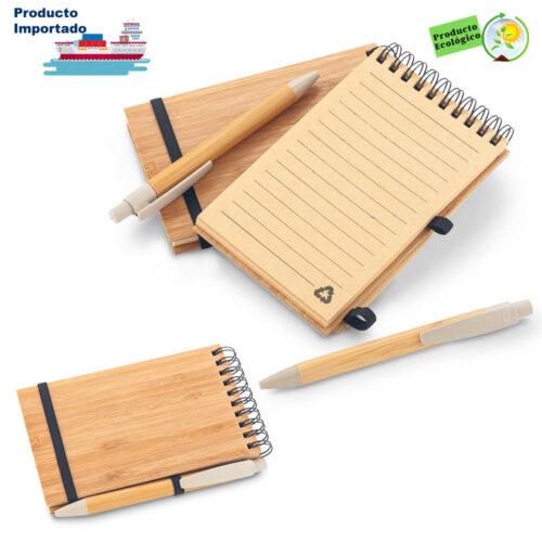 Libreta con Bolígrafo Bamboo
