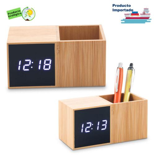 Reloj Con Portabolígrafo Bamboo