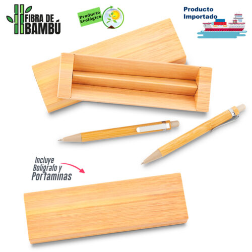 Set Bolígrafo y Portaminas Bamboo